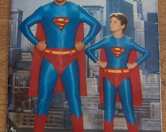 vintage 1987 butterick pattern 5874 boys Superman costume sz S-M-L 26-32 chest uncut