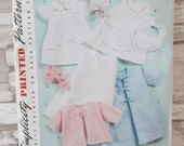 REDUCED - Baby Layette/Bonnet in 3 sizes - Simplicity 2900 Patt - UNCUT - Sz A XXS - L -  See Shop Announcement for 60%off code Shop Closing