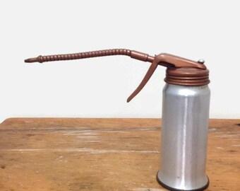 Vintage Oil Can 1950s - Golden Rod - Flexible Spout - Dutton Lainson Hastings Nebraska USA