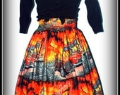 Zombie Drive In Rockabilly Skirt Size L...LAST ONE