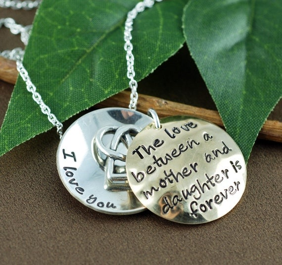 Personalized mother/daughter necklace