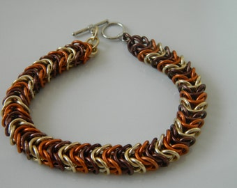 Box Chain Bracelet in Fall Colors