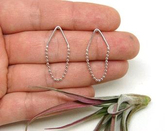 Camper Silver Chain Post Earrings