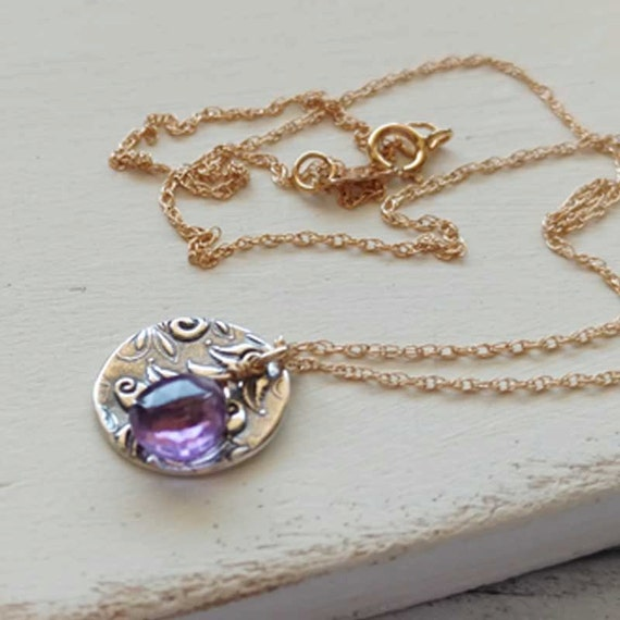 Amethyst Necklace February Birthstone Jewelry Artisan
