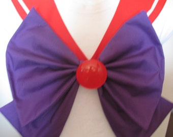 Red Collar, Bow and Brooch Sailor Scout Mars Cosplay