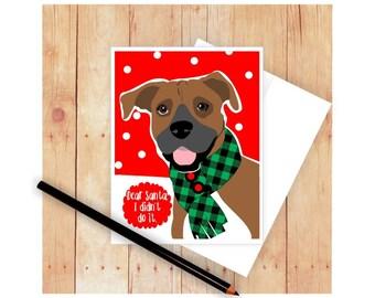 Boxer Dog, Christmas Card Set, Boxer Card, Dog Cards, Seasons Greetings, Holiday Cards, Dog Christmas Card, Dog Christmas, Let It Snow