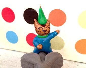 Birthday Cake Topper Kids Birthday Party Decor, Cat and Elephant Kids Birthday Cake Topper, Animal Birthday Cake Topper for kids