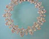 Great Gatsby Bracelet, Gatsby Wedding, Rhinestone Cuff, Art Deco, Delicate Bracelet, Diamante, 1960s Wedding, Rhinestone Bracelet, Downton