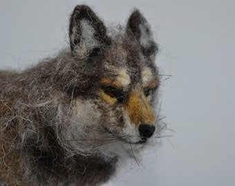 Needle Felted  Animals  Wolf