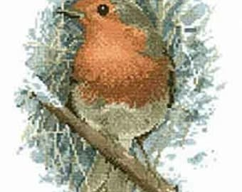 Robin Redbreast  Cross Stitch Chart from The John Stubbs Editions by Heritage Crafts, cross stitch pattern, cat cross stitch  chart