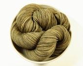Hand Dyed Sock Yarn - Sock Weight Superwash Merino Wool Yarn - Driftwood - Knitting Yarn, Fingering Yarn, Wool Yarn, Neutral Tonal