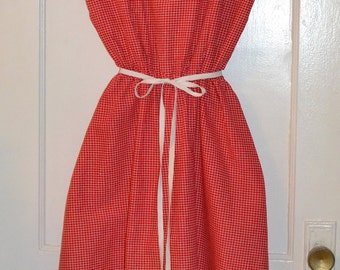 Vintage Sundress - Fourth of July Picnic - Red White & Blue Cotton Dress - m/l