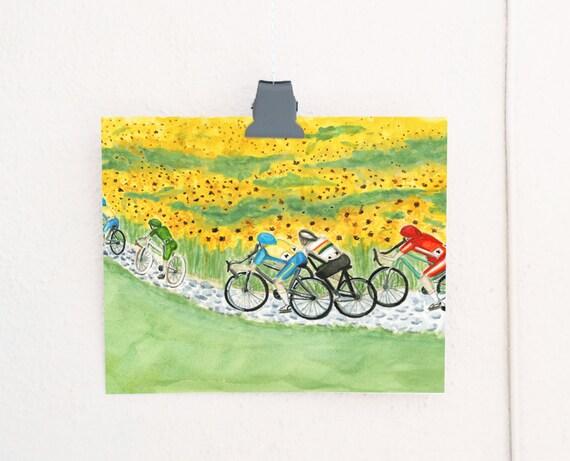 The Peloton Cycling Art Print