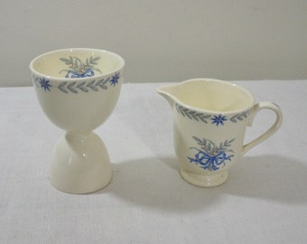 Vintage Steubenville Egg Cup & Pitcher