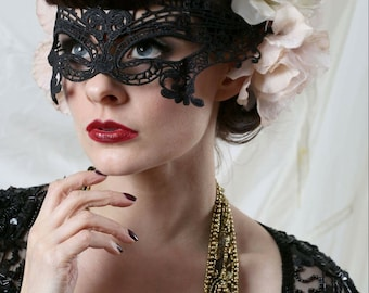 Black lace masquerade mask, 50 shades darker.