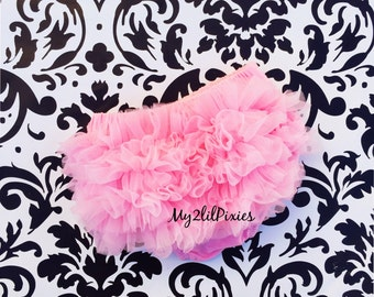 BABY BLOOMER ,PINK chiffon bloomer Ruffle Diaper Cover, Ruffle Bum Bloomer , Baby Girl Bloomer, newborn bloomer,Photo Prop-ready to ship