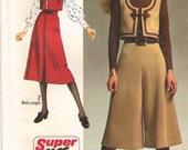 culottes gauchos pantskirt vest slit skirt SUPER JIFFY easy sew Simplcity 9102 size 12 bust 34 hip 36