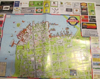 2 - Authentic KEY WEST FLORIDA Discovery Map for Crafts, Scrapbook, Decoupage, Jewelry and more