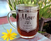 Mom Coffee Mug, Gifts for Mom, Est. kids birthdays for the coffee lover, Personalized Gift for Her, Mothers Day Coffee Mug
