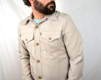 Vintage 1970s Levis Polyester Button Up Shirt