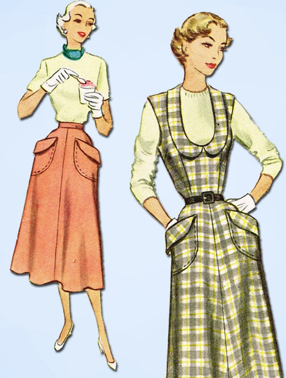 1950s Vintage McCall Sewing Pattern 8262 Uncut Misses Skirt or