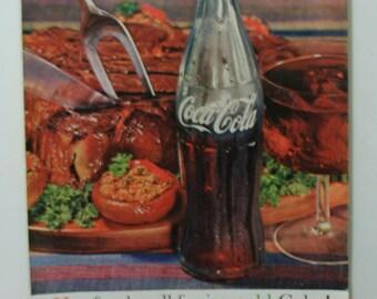 1961 Coke ad with steak