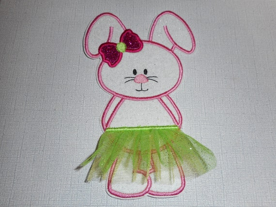 Free Shipping Ready To Ship Easter Bunny Fabric Iron applique