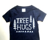 TREE HUGS Kids Toddler Tshirt, Cute Tree Hugger, Trees, Canada Local BC Pnw Hippie Eco Fashion, Kawaii, Hipster Kids, Lumberjack Explore