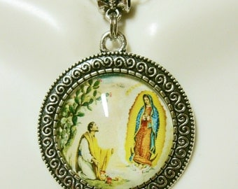 Our lady of Guadalupe pendant and chain - AP26-064