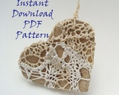 PDF How-To Pattern Instruction, Lacy Heart Necklace, Textile Weaving, Instant Download, Woven Jewelry, DIY, Valentine, Victorian, Fiber Arts