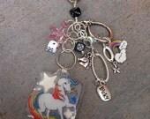 CLOSEOUT Rainbow Brite Starlite Key Chain, Purse Charm, Cute Zipper Pull, Vintage, Purse Accessory, Backpack, Rainbow Chaser, 1980s