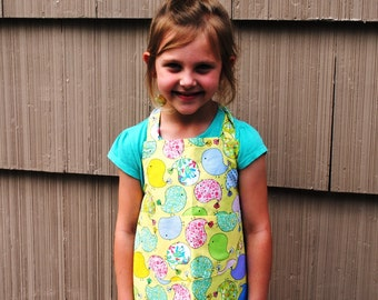 Apron Toddler or Child Yellow Chicks