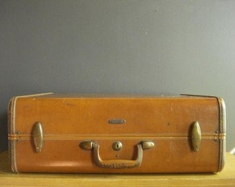 Oh the Places I've Been - Vintage Camel Colored Samsonite Suitcase