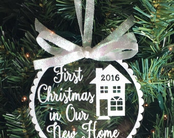 Our First Home Personalized Christmas by CherishYourMemory on Etsy
