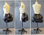 mini bustle black tie on bustle-simple bustle--halloween-cosplay-black bustle-gothic bustle-black bustle-victorian bustle-costume