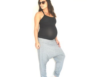 Drop crotch pants, Plus size pants, Maternity pants, Yoga pants, Yoga leggings, Maternity pants cotton, Drop crotch plus size pants