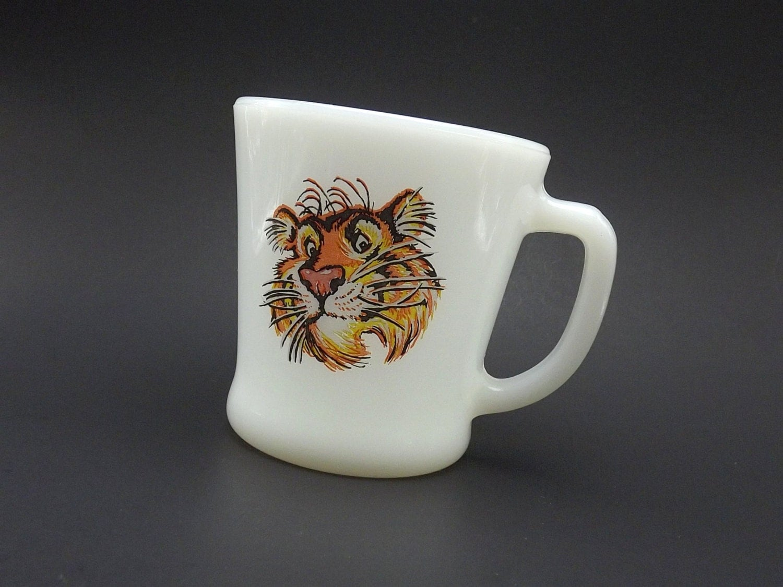 Vintage Esso Tiger Coffee Cup Collectible Mug Anchor Hocking