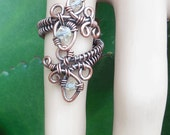 Gypsy wire ring gypsy wrapped rings wire wrapped gypsy ring wire wrapped boho rings boho jewelry magical jewelry adjustable ring