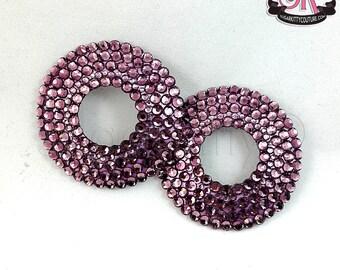 Round Peek-A-Boo Rhinestone Nipple Pasties - SugarKitty Couture