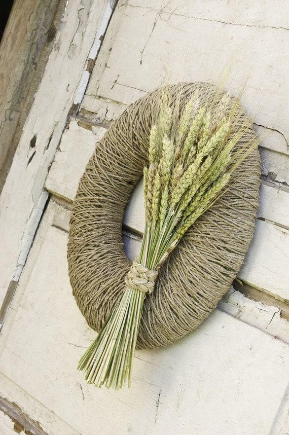Fall Wreath - Autumn Wreath - Harvest Wreath - Summer Wreath - Rustic Door Decor - Thanksgiving Wreath