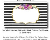 DYI Blank Business Card Template - Oh Carolina 2 - Made to Match Etsy Sets and Facebook  Covers, Business Card Template, Made to Match