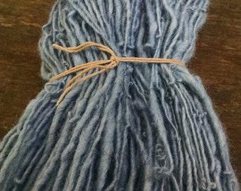 Indigo Dyed Yarn, Handspun Yarn, Hand-dyed Indigo
