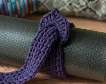 yoga mat strap / adjustable / handmade / gift for yogi / yoga mat holder / tote / yoga mat carrier / gift for her /