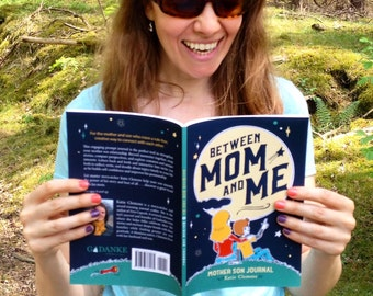 """Mother Son Diary, Scrapbook, Mother son journal for writing stories, writing prompts, & boy activities """"Between Mom and Me"""" Mother son book"""