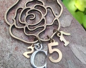 Christian necklace, 2 Corinthians 5:17-Christian jewelry-Long 30 inch flower necklace