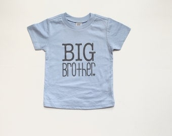 SALE   12M - Youth Light blue and grey big brother tshirt   big brother tee   big brother gift   blue big brother shirt   big bro gift  