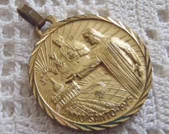 Vintage Medal Porta Santa 1975 Pope Paul VI