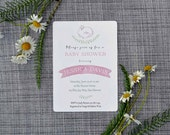 Printable Custom Pink Bunny Baby Shower Invitation