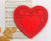 Red Heart Paper Doilies / Junk Journal / Daily Planner / Valentine's Day