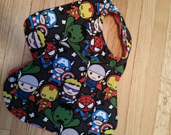 Marvel Super Hero Bib and Burp Cloth